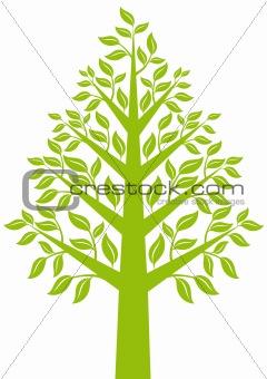 green tree, vector