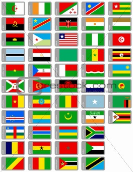 african flags collection