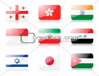 Asian flags set 2