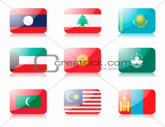 Asian flags set 3