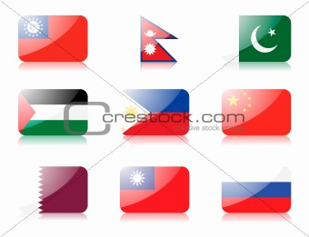 Asian flags set 4