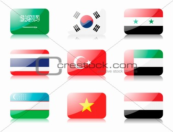 Asian flags set 5