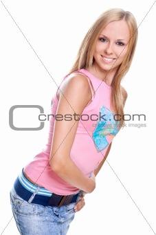 beautiful women in a jeans