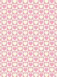 Vector Swatch Heart Striped Squares Fabric Background