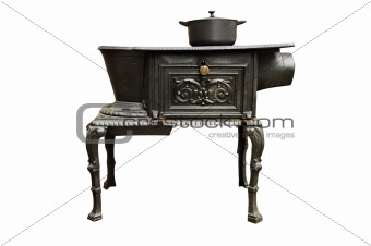 ancient kitchen stove