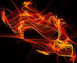 Warm flame abstract background