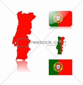 Portugese map and flags
