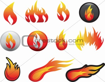 flame icon set