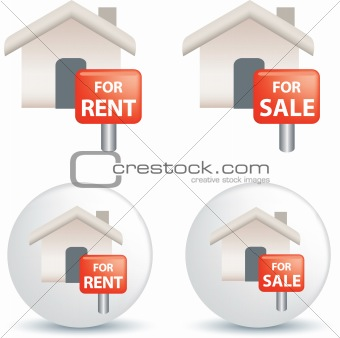 For sale and rent symbol