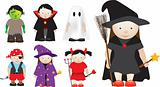 Selection of halloween characters