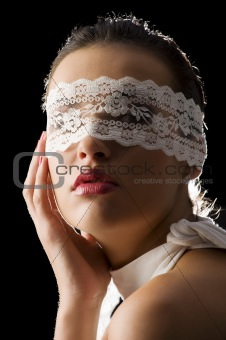 mask and white lace
