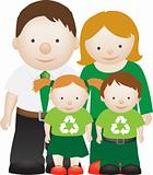recycle eco friendly family