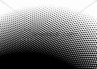 black halftone abstract image