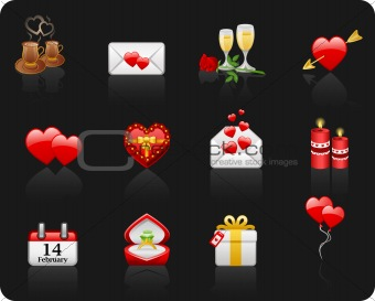Valentine Day black background