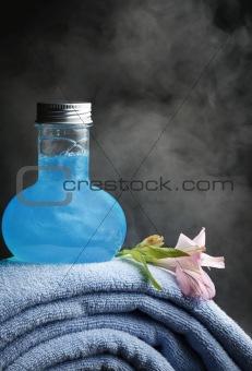 Towels and shampoo