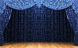blue velvet curtain opening scene