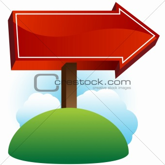 Arrow Sign Post