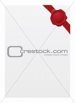 Blank paper with seal