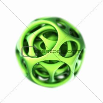 green plastic spherical designer