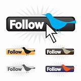 Follow Bird Icons