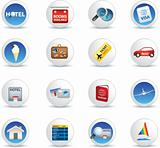 holiday travel and vacation icons
