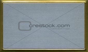 brass aluminum plate for presentation