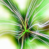 Blur green spark abstract background