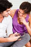 girl listening her boyfriend deeply