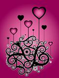romantic pink illustration