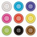 clothes buttons icons