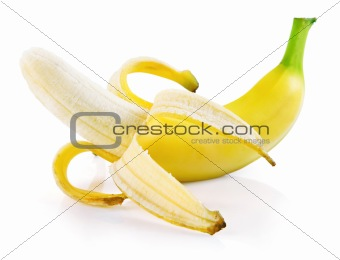 single fresh banana fruit isolated