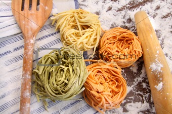 Assortment of different  italian pasta