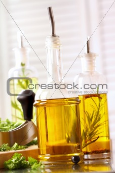 Assortment of olive oils