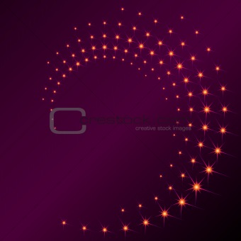 Sparkly spiral