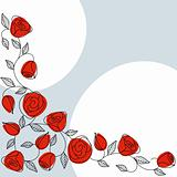 Classic hand drawn background with roses