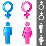 Gender symbols.