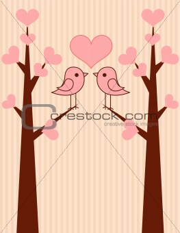 Cute birds couple