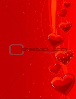 "Background ""Love"" with lines and hearts"