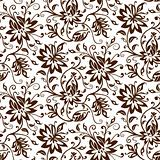Textile vector floral background
