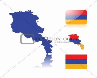 Armenian map and flags