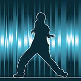 dancing silhouette, hip-hop