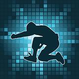 dancing silhouette, jump