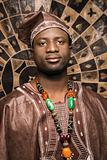 Young African American Man in Traditional African Clothing