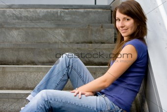 Attractive young teenage girl