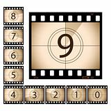 Film Countdown with separate frames