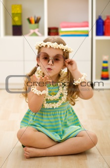 Little popcorn princess playing