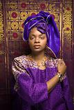 Young African American Woman in Traditional African Dress