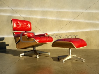 Red seat to layer concrete wall