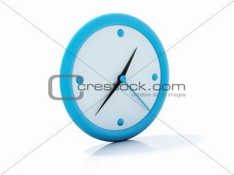 Blue clock icon