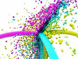 Colored splash